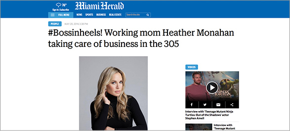 Miami Herald #Bossinheels!