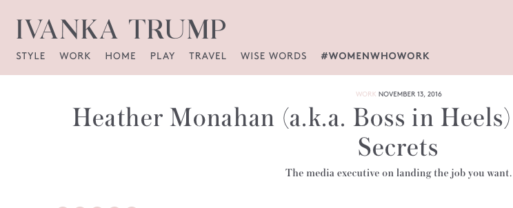 ivanka Trump Heather Monahan Boss in Heels