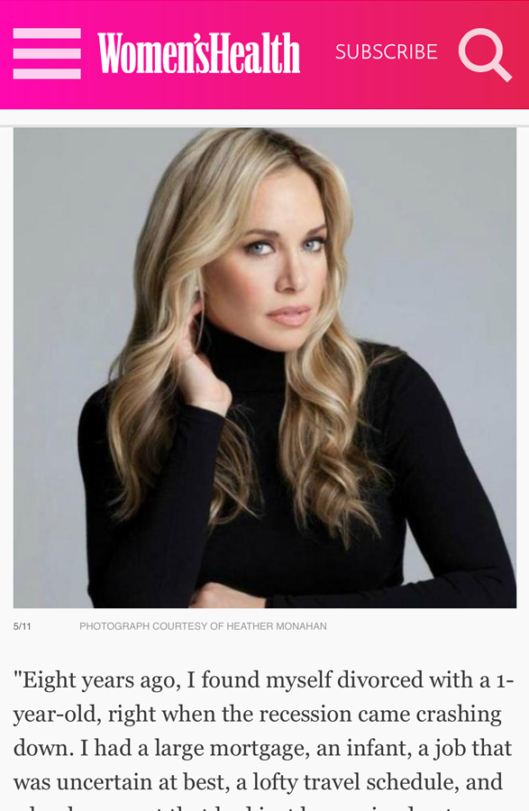 Heather Monahan Women's Health Magazine