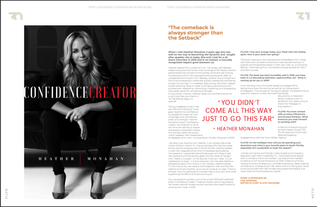 Fort Lauderdale Fashion Week Magazine - Confidence Creator