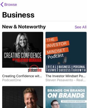 New & Noteworthy Podcast Creating Confidence